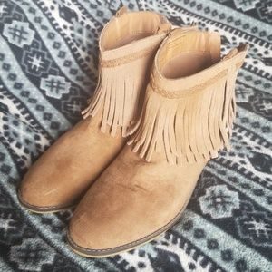 Mossimo frill half boots